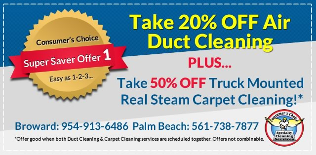 20% Off Air Duct Cleaning Carpet Cleaning Combo